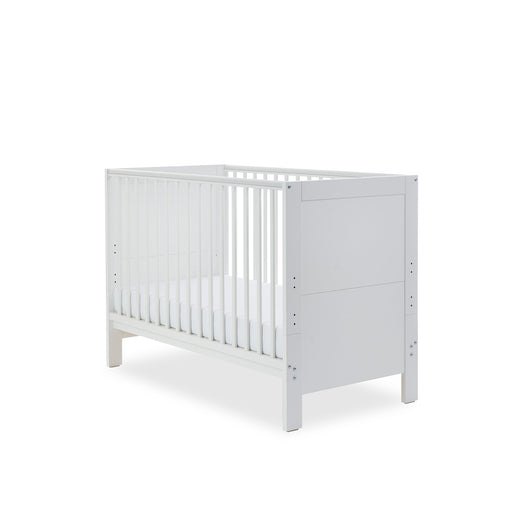 Ickle Bubba Grantham Mini Cot Bed - Brushed White