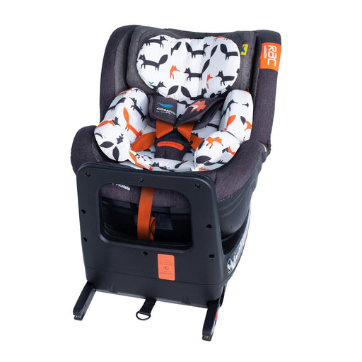 Cosatto RAC Come and Go i-Rotate i-Size Car Seat - Mister Fox - Pushchair Expert