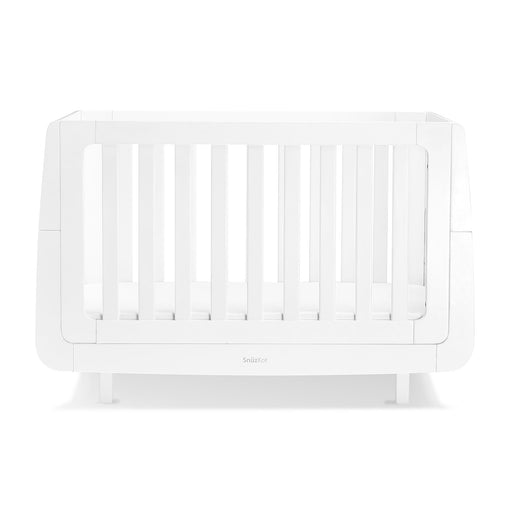 SnuzKot Mode Cot Bed – White + FREE toddler rails