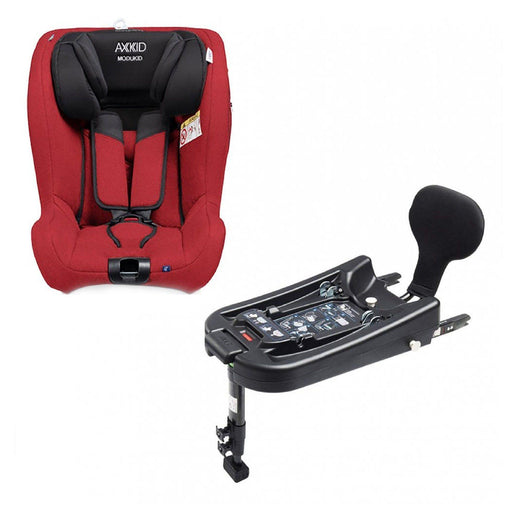 Axkid Modukid i-Size toddler car seat and base - Red - Pushchair Expert