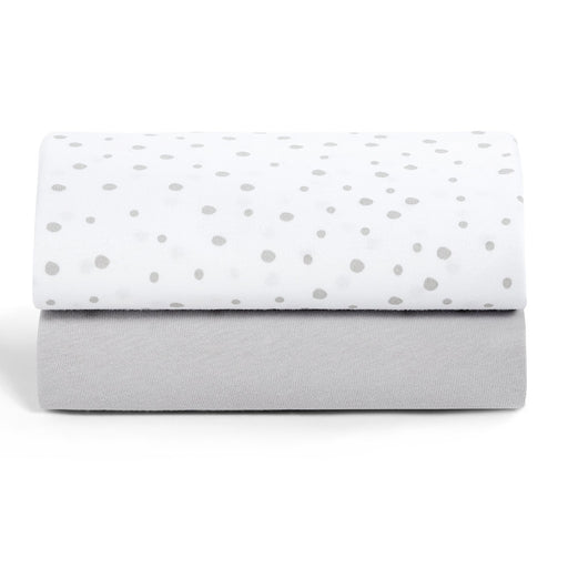 Snuz Crib 2 Pack Fitted Sheets - Grey Spots