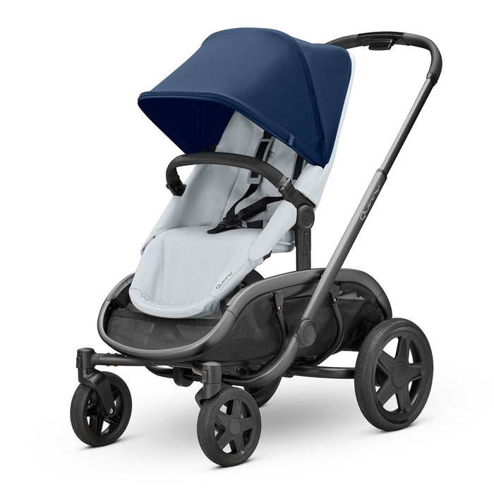 Quinny Hubb Navy on Grey with Graphite Frame - Pushchair Expert