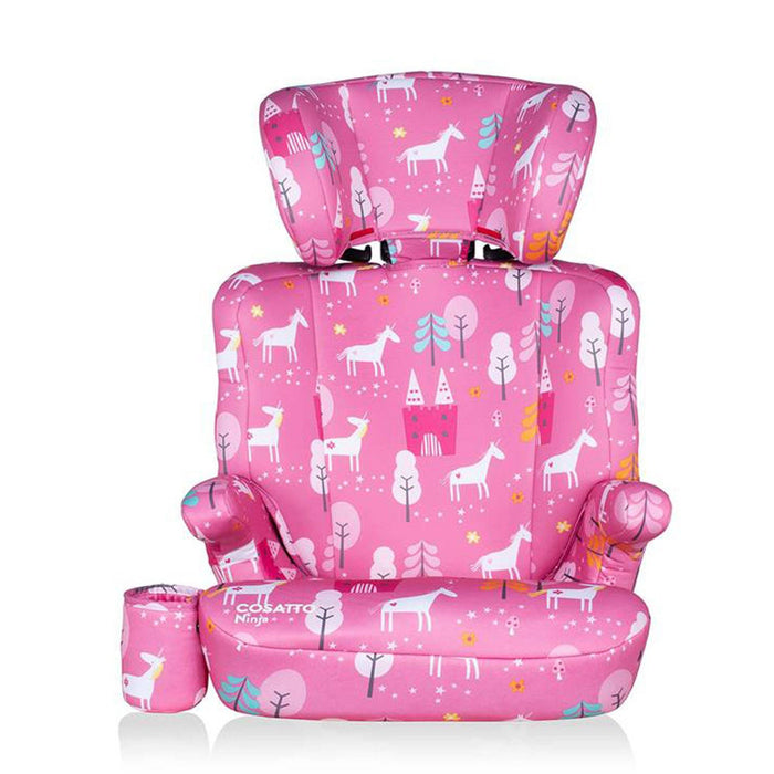 Cosatto Ninja Group 2/3 high-back booster - Candy Unicorn Land - Pushchair Expert