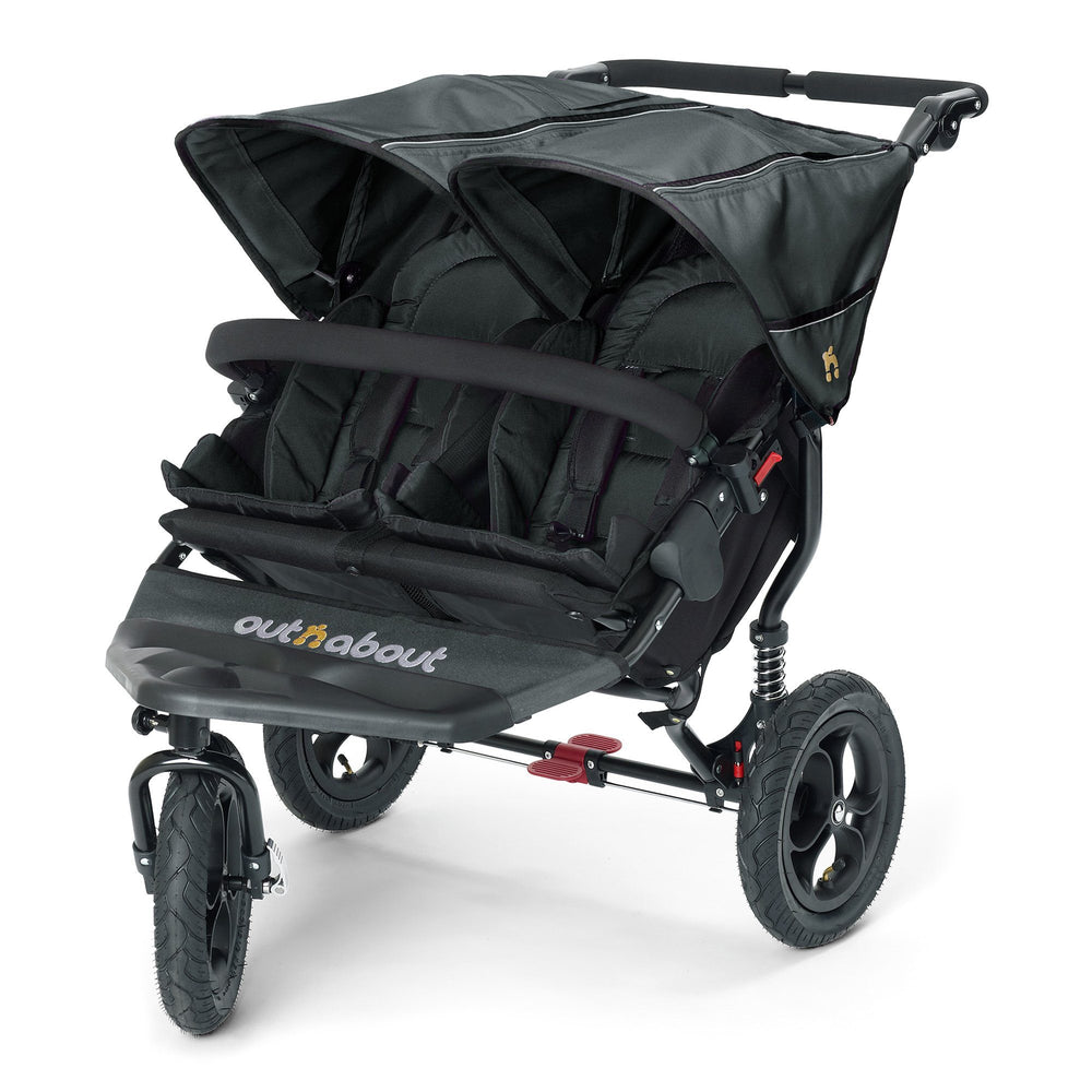 Out'n'About Nipper Double V4 Raven Black - Pushchair Expert