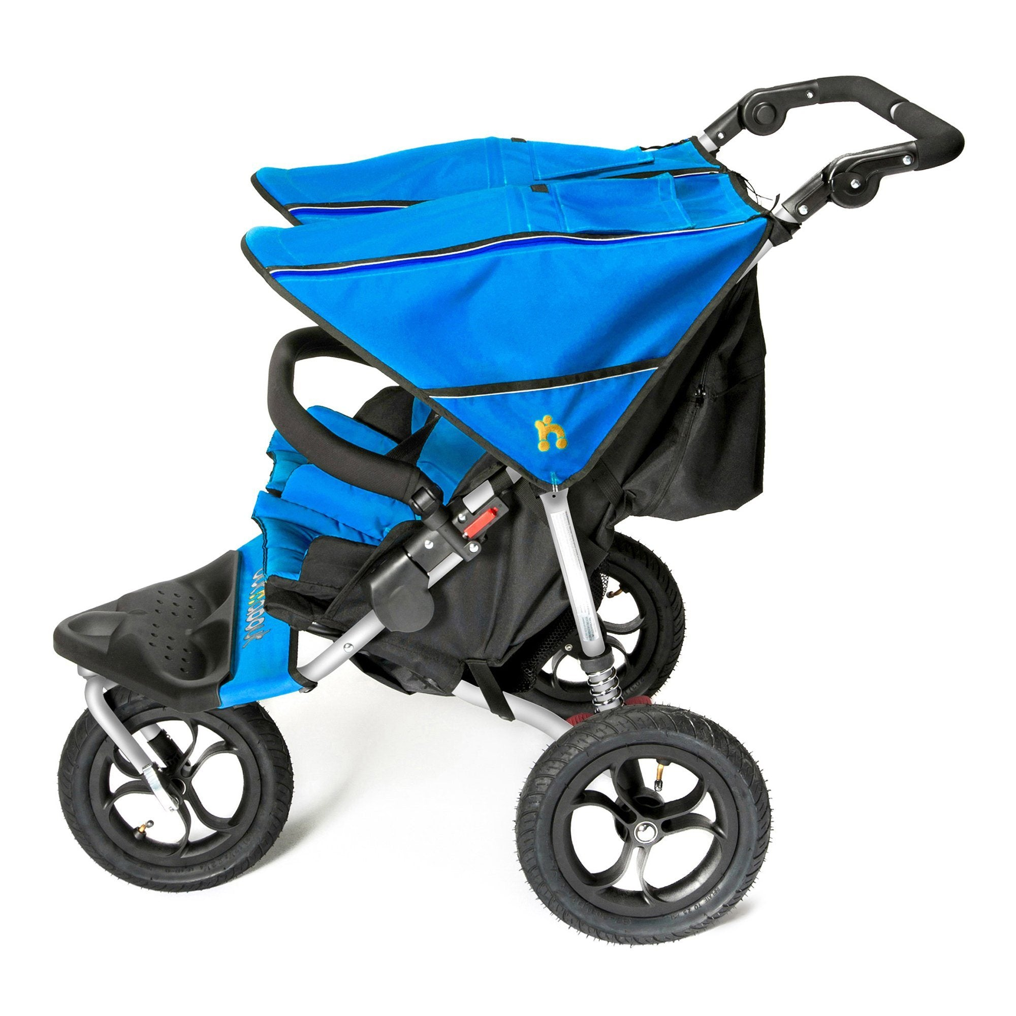 Out'n'About Nipper Double V4 Lagoon Blue - Pushchair Expert
