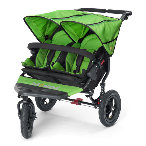 Out'n'About Nipper Double V4 Mojito Green - Pushchair Expert