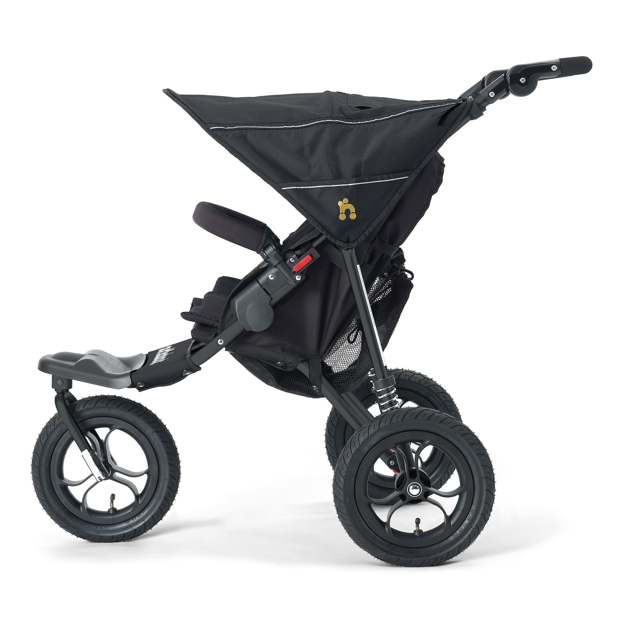 Out'n'About Nipper Single V4 Raven Black - Pushchair Expert