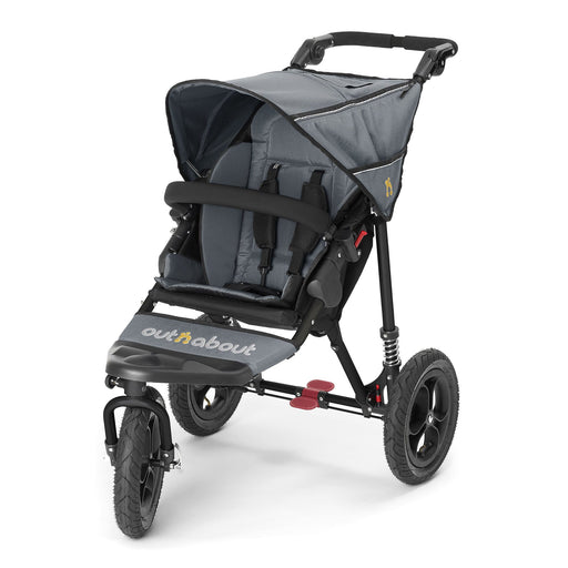 Out'n'About Nipper Single V4 Steel Grey - Pushchair Expert