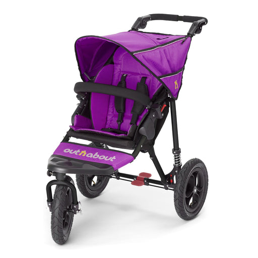 Out'n'About Nipper Single V4 Purple Punch - Pushchair Expert