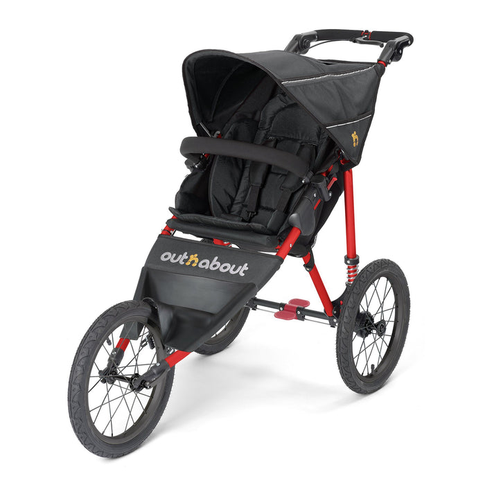 Out'n'About Nipper Sport - Raven Black on Red Frame