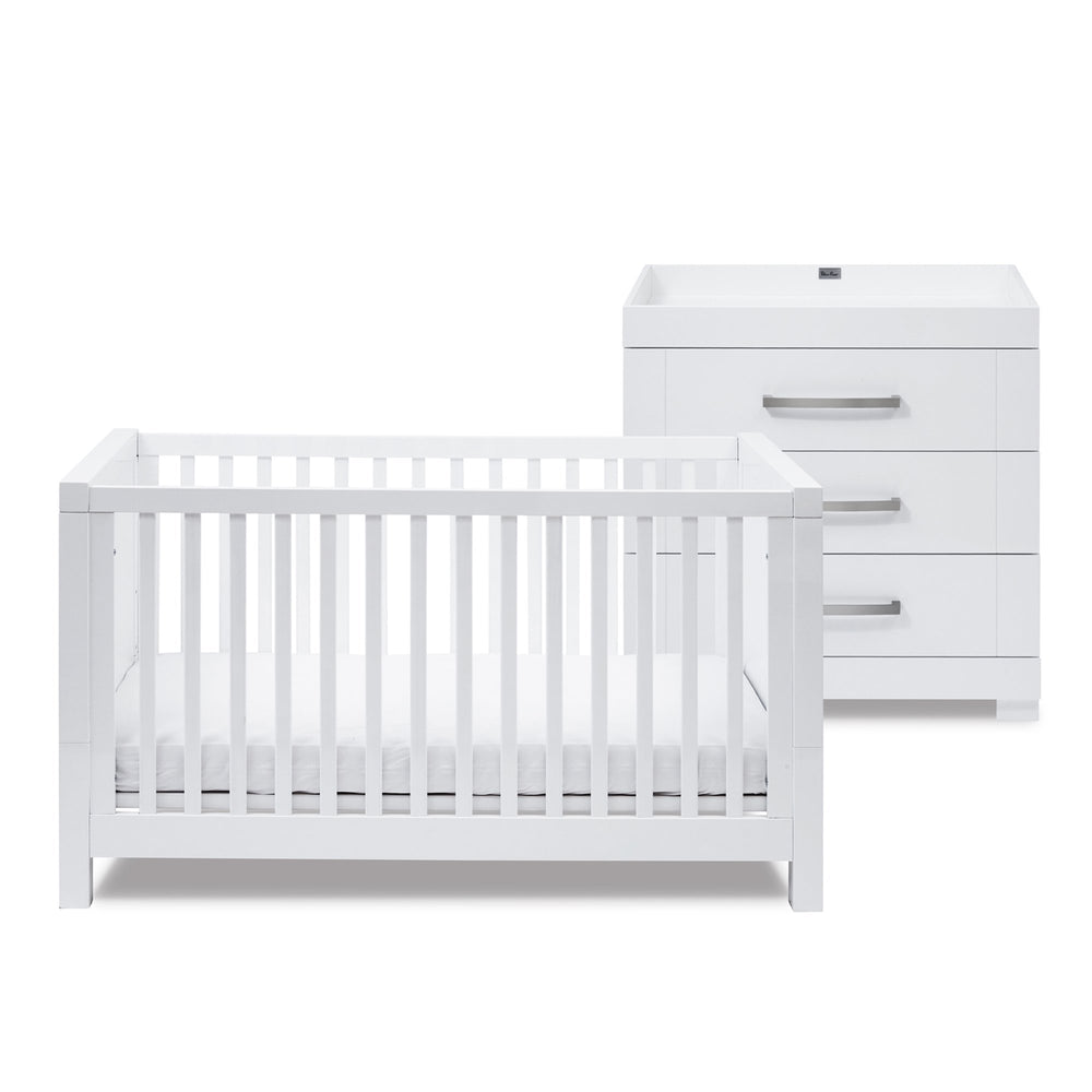 Silver Cross Notting Hill - Cot bed and Dresser Set - Pushchair Expert