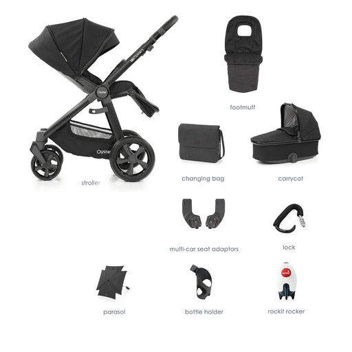 BabyStyle Oyster 3 Noir 9-piece Bundle - Pushchair Expert