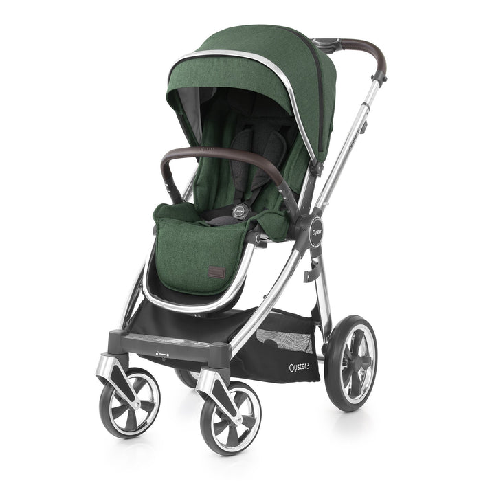BabyStyle Oyster 3 Alpine Green with Carrycot - Pushchair Expert