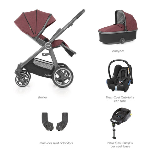 BabyStyle Oyster 3 Berry Essential Bundle with Maxi-Cosi Cabriofix - Pushchair Expert