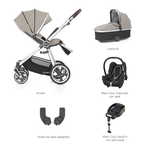 BabyStyle Oyster 3 Pebble Essential Bundle with Maxi-Cosi Cabriofix - Pushchair Expert