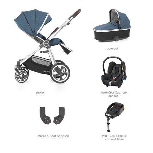 BabyStyle Oyster 3 Regatta Essential Bundle with Maxi-Cosi Cabriofix - Pushchair Expert