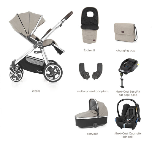 BabyStyle Oyster 3 Pebble Luxury Bundle with Maxi-Cosi Cabriofix
