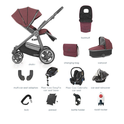 BabyStyle Oyster 3 Berry Ultimate Bundle with Maxi-Cosi Cabriofix - Pushchair Expert