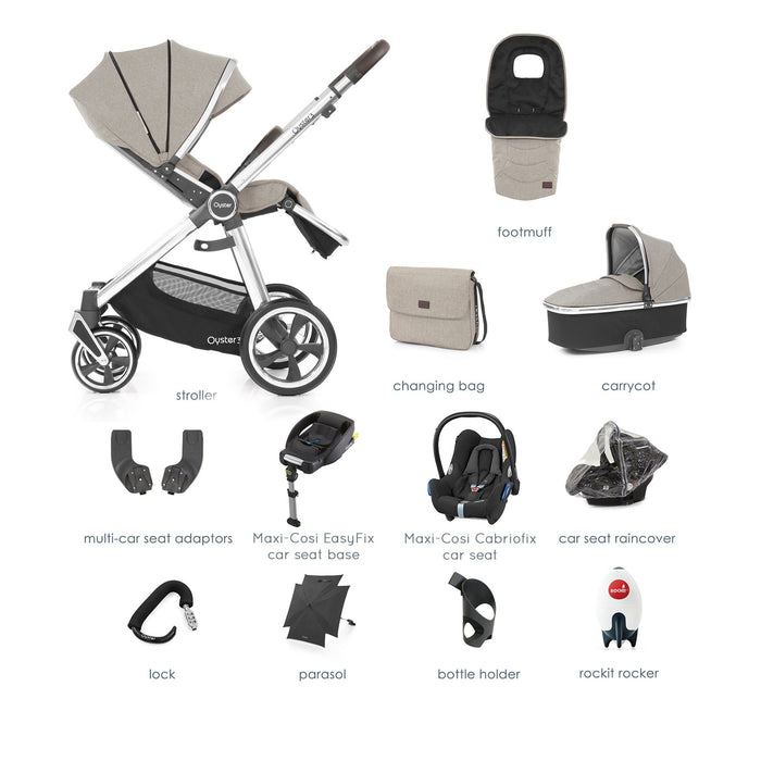 BabyStyle Oyster 3 Pebble Ultimate Bundle with Maxi-Cosi Cabriofix - Pushchair Expert