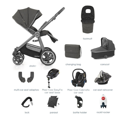 BabyStyle Oyster 3 Pepper Ultimate Bundle with Maxi-Cosi Cabriofix - Pushchair Expert