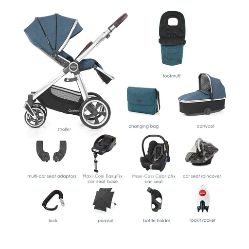 BabyStyle Oyster 3 Regatta Ultimate Bundle with Maxi-Cosi Cabriofix - Pushchair Expert