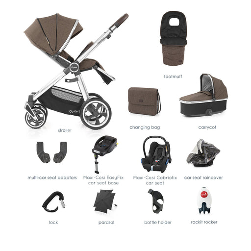 BabyStyle Oyster 3 Truffle Ultimate Bundle with Maxi-Cosi Cabriofix - Pushchair Expert