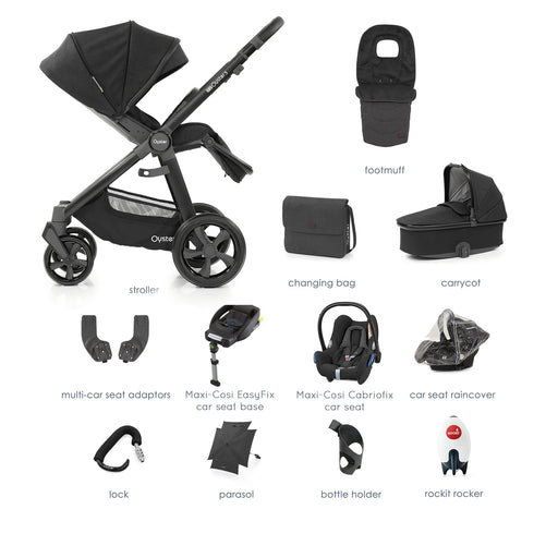 BabyStyle Oyster 3 Noir Ultimate Bundle with Maxi-Cosi Cabriofix - Pushchair Expert