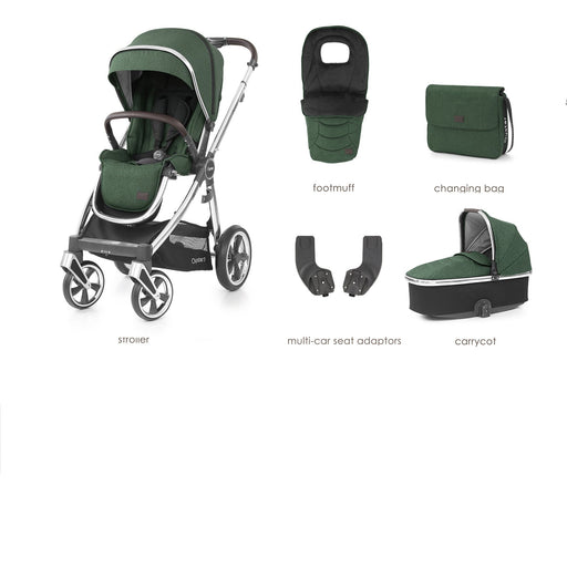 BabyStyle Oyster 3 Alpine Green 5-piece Bundle - Pushchair Expert