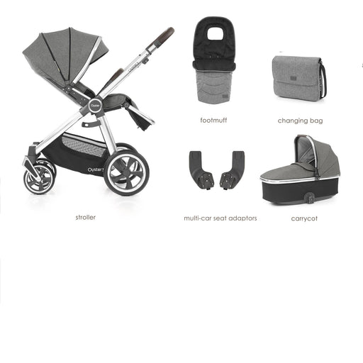 BabyStyle Oyster 3 Mercury (Mirror Chassis) 5-piece Bundle - Pushchair Expert