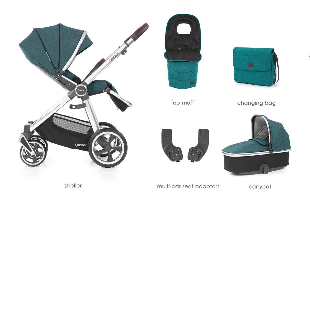 BabyStyle Oyster 3 Peacock 5-piece Bundle - Pushchair Expert