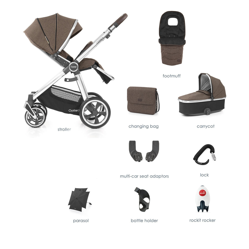 BabyStyle Oyster 3 Truffle 9-piece Bundle - Pushchair Expert