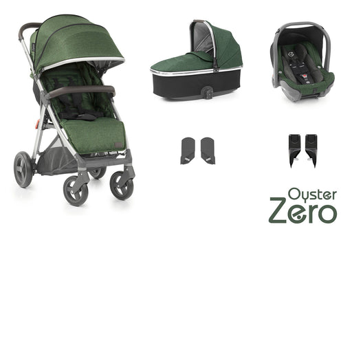 BabyStyle Oyster Zero travel system - Alpine Green - Pushchair Expert