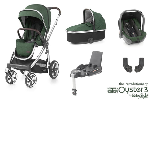 BabyStyle Oyster 3 Essential Bundle - Alpine Green - Pushchair Expert