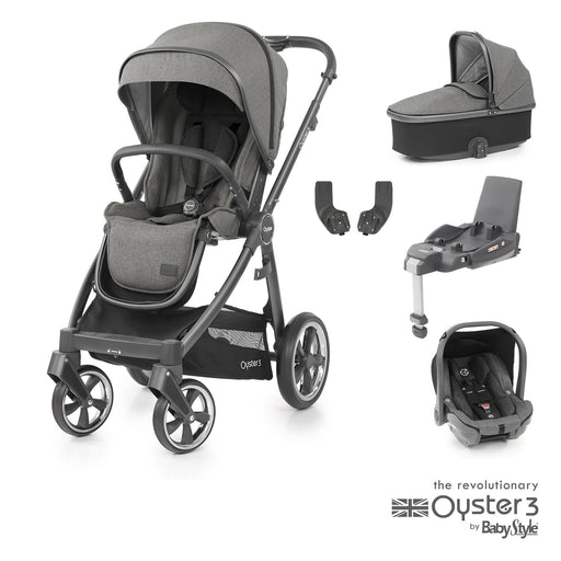 BabyStyle Oyster 3 Essential Bundle - Mercury (City Grey chassis)