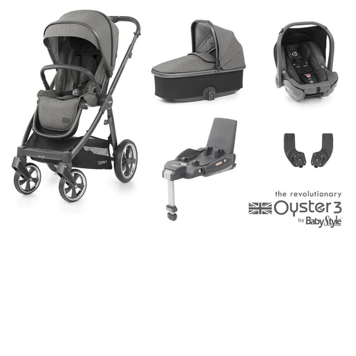 BabyStyle Oyster 3 Essential Bundle - Mercury (City Grey chassis) - Pushchair Expert
