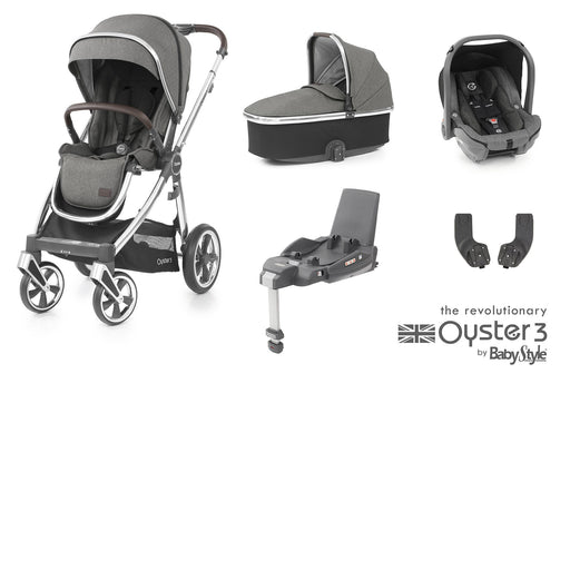 BabyStyle Oyster 3 Essential Bundle - Mercury (Mirror chassis) - Pushchair Expert