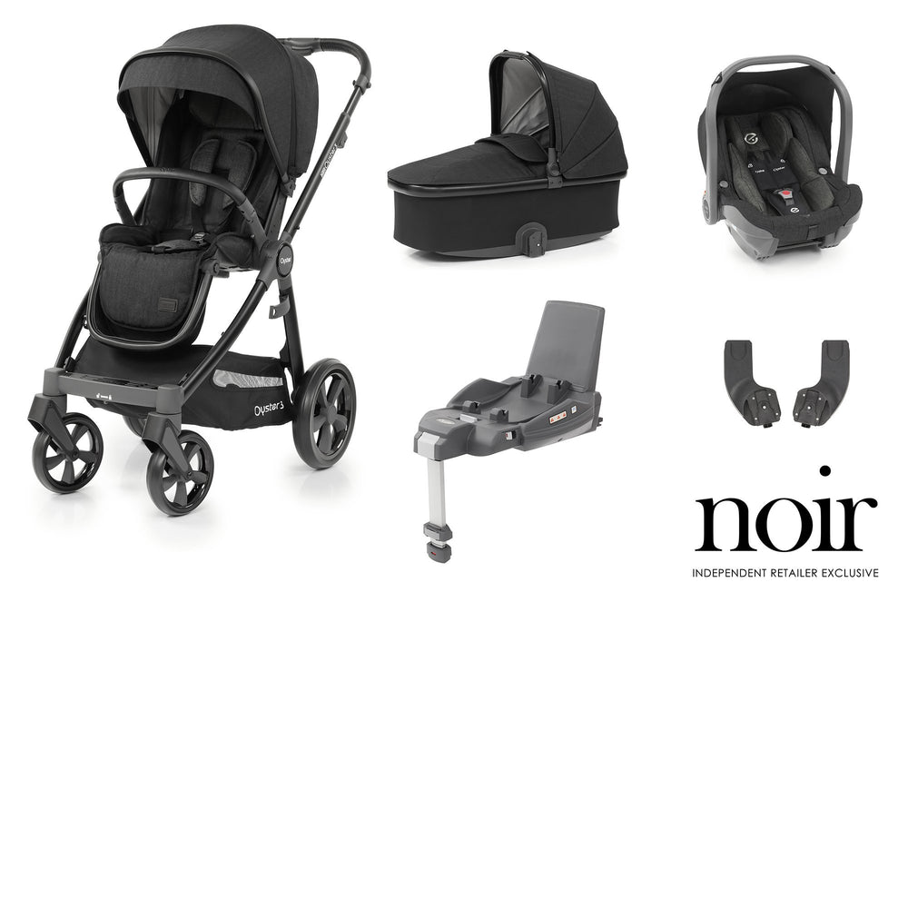 BabyStyle Oyster 3 Essential Bundle - Noir - Pushchair Expert