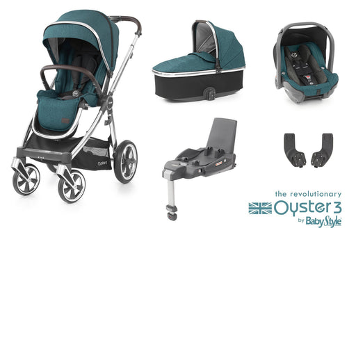 BabyStyle Oyster 3 Essential Bundle - Peacock - Pushchair Expert