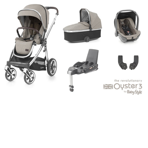 BabyStyle Oyster 3 Essential Bundle - Pebble - Pushchair Expert