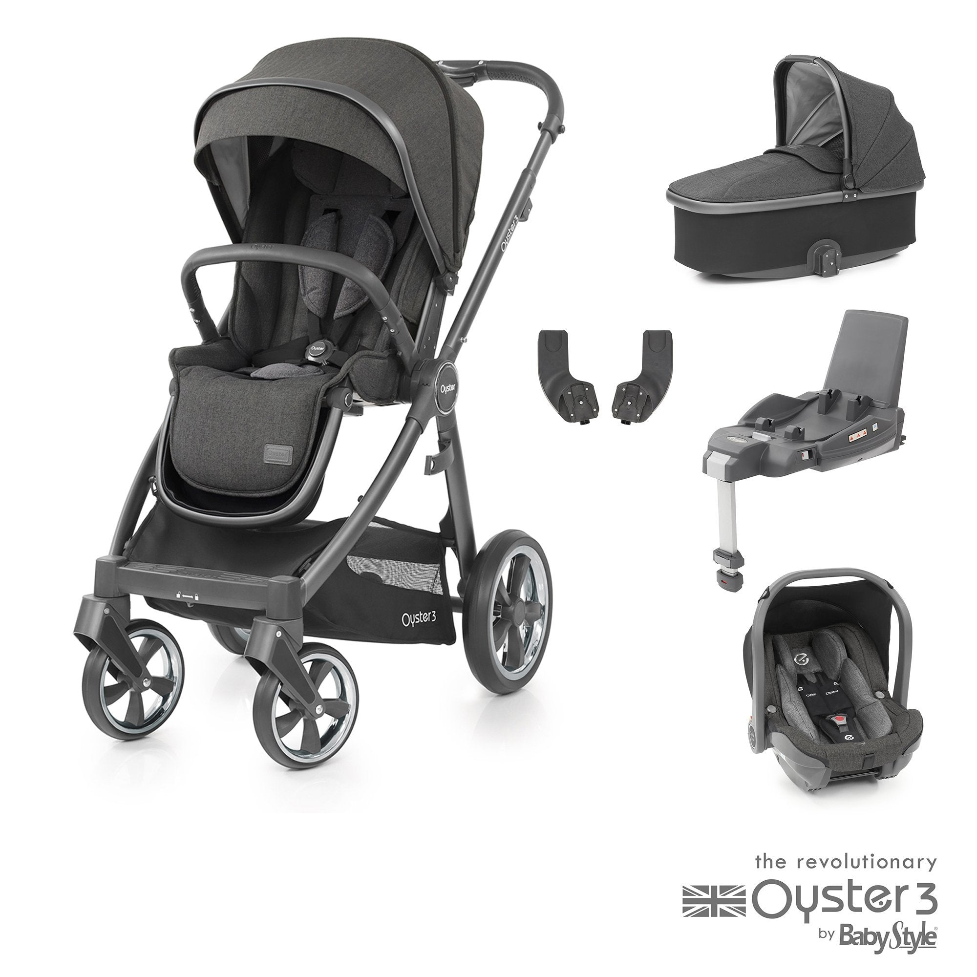 BabyStyle Oyster 3 Essential Bundle - Pepper