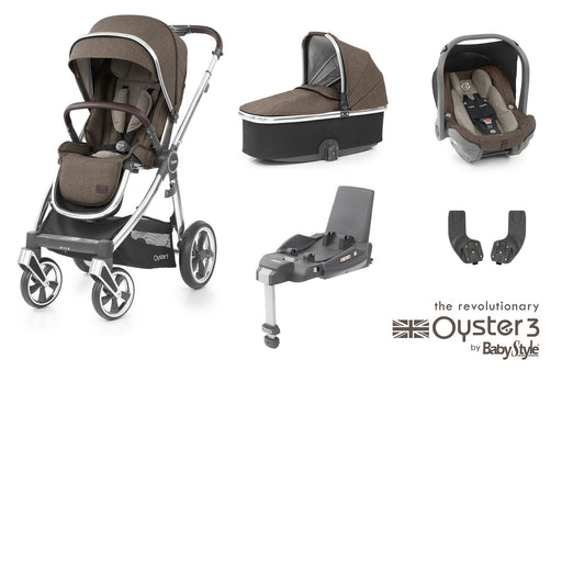 BabyStyle Oyster 3 Essential Bundle - Truffle - Pushchair Expert
