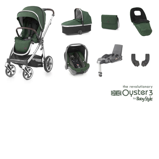 BabyStyle Oyster 3 Luxury Bundle - Alpine Green - Pushchair Expert