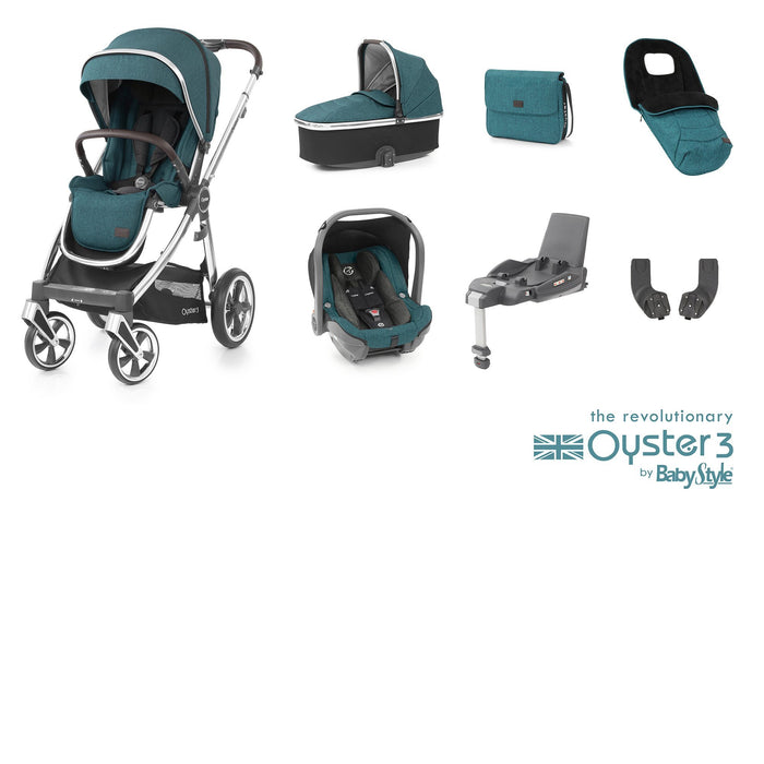 BabyStyle Oyster 3 Luxury Bundle - Peacock - Pushchair Expert