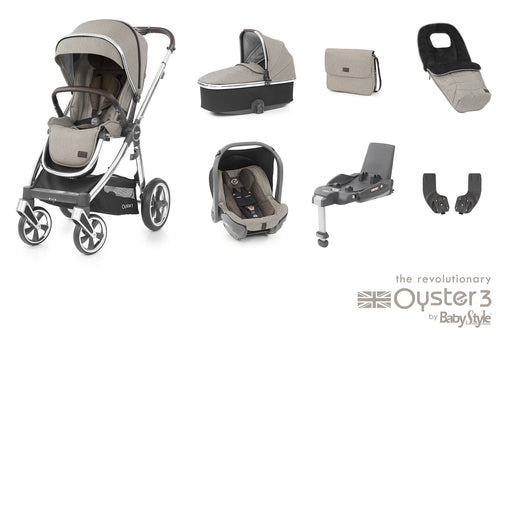 BabyStyle Oyster 3 Luxury Bundle - Pebble - Pushchair Expert