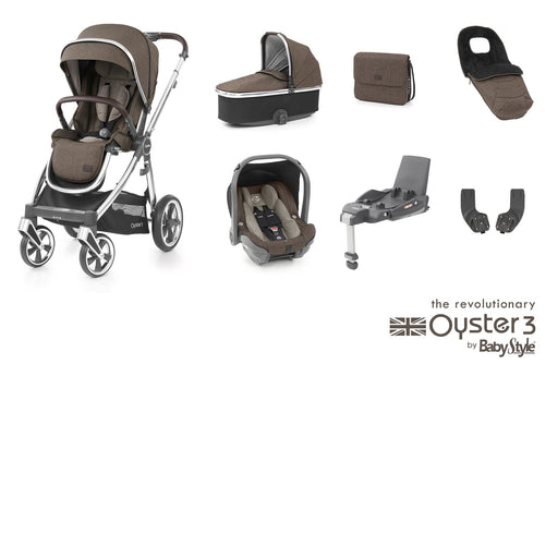 BabyStyle Oyster 3 Luxury Bundle - Truffle - Pushchair Expert