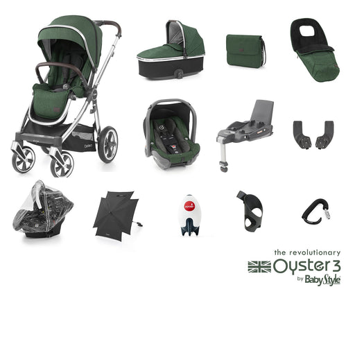 BabyStyle Oyster 3 Ultimate Bundle - Alpine Green - Pushchair Expert