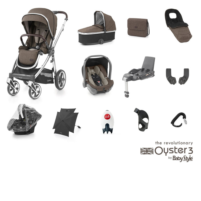 BabyStyle Oyster 3 Ultimate Bundle - Truffle - Pushchair Expert