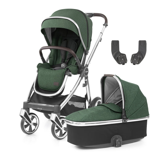 BabyStyle Oyster 3 Alpine Green 3-piece Bundle - Pushchair Expert