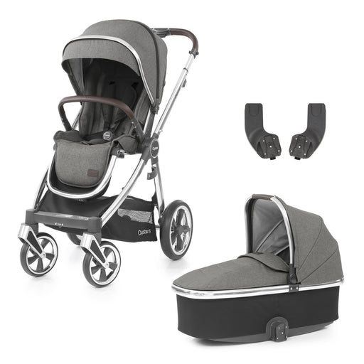 BabyStyle Oyster 3 Mercury (Mirror Chassis) 3-piece Bundle - Pushchair Expert
