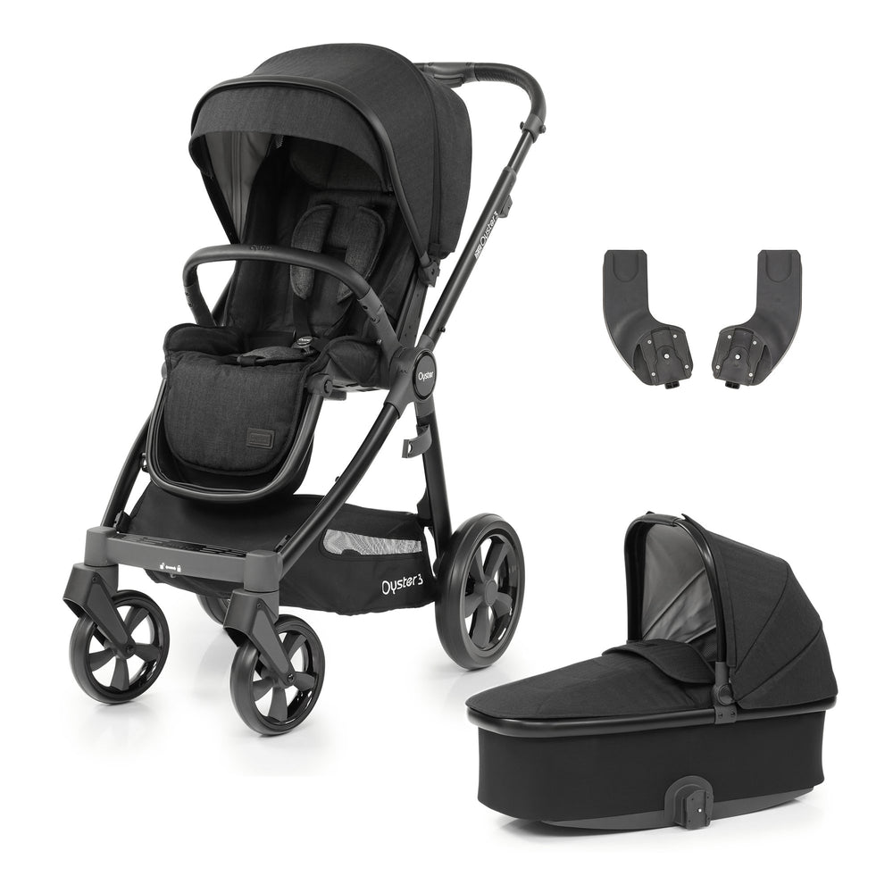 BabyStyle Oyster 3 Noir 3-piece Bundle - Pushchair Expert